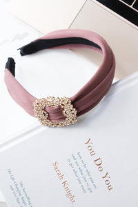 Dusty Pink Diamante Statement Alice Band