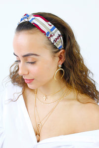 Chain Print Top Knot Alice Headband