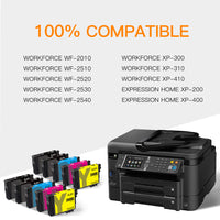 ejet Remanufactured Ink Cartridge Replacement for Epson 200XL 200 XL T200XL to use with WorkForce WF-2540 WF-2530 XP-310 XP-400 XP-410 XP-300 XP-200 (4 Black, 2 Cyan, 2 Magenta, 2 Yellow) 10 Pack