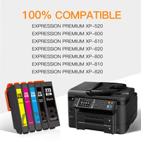 ejet Remanufactured Ink Cartridge Replacement for Epson 273XL 273 to use with XP-800 XP-810 XP-820 XP-600 XP-610 XP-620 XP-520 Printer (1 Black, 1 Photo Black, 1 Cyan, 1 Magenta, 1 Yellow) 5 Pack