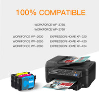 ejet Remanufactured Ink Cartridge Replacement for Epson 220XL 220 XL T220XL to use with WorkForce WF-2750 WF-2630 WF-2650 WF-2660 WF-2760 XP-320 XP-420 XP-424 (1 Cyan, 1 Magenta, 1 Yellow) 3 Pack