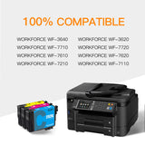 ejet Remanufactured Ink Cartridge Replacement for Epson 252XL 252 XL T252XL to use with WorkForce WF-7710 WF-7720 WF-3620 WF-3640 WF-7610 WF-7620 WF-3630 Printer (1 Cyan, 1 Magenta, 1 Yellow) 3 Pack