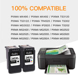 ejet Manufactured Ink Cartridge Replacement for Canon 245XL 246XL PG-245XL CL-246XL 245 XL 246 XL to use with PIXMA MX492 MG3020 MG2522 MG2525 MG2920 MG2922 TS3120 TS202 TS302 Printer (2 Pack)
