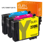 ejet Remanufactured Ink Cartridge Replacement Epson 220XL (1 Cyan, 1 Magenta, 1 Yellow, 3-Pack), UPC:728897128170