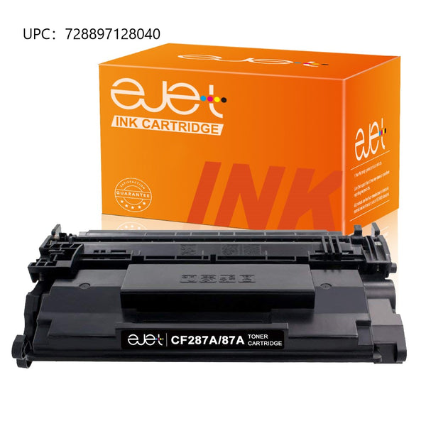 ejet Compatible Toner Cartridge Replacement for HP 87A CF287A to use with LaserJet Enterprise M506dn M506n M506x Laserjet Pro M501dn M501n LaserJet MFP M527dn M501n M527z M527f Printers (1 Black)
