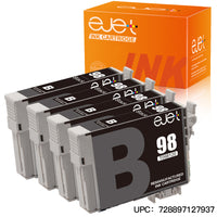 ejet Remanufactured Ink Cartridge Replacement for Epson 98 T098 to use with Artisan 700 710 725 730 810 835 837 Printer (4 Black)