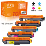 ejet Compatible Toner Cartridge Replacement for Brother TN221 TN225 High Yield (2 Black, 1 Cyan, 1 Magenta, 1 Yellow) 5 Pack