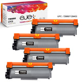 ejet Compatible Toner Cartridge Replacement for Brother TN660 TN-660 TN630 High Yield (Black, 4 Pack)