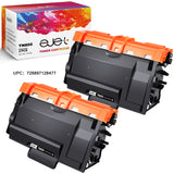 ejet Compatible Toner Cartridge Replacement for Brother TN850 TN-850 TN820 (Black, 2 Pack High Yield)