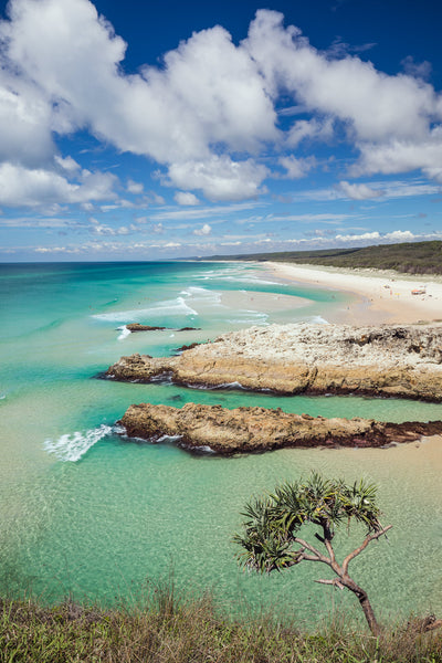 South Gorge north stradbroke island sunny day wall art by julie sisco photography