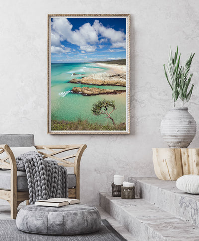 A wall art print featuring South Gorge  on North Stradbroke Island, Wall Art photography by Julie Sisco Snapshots of Straddie Gallery