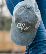 CHS-CURSIVE-BASEBALL-HAT-TEAL-BLUE