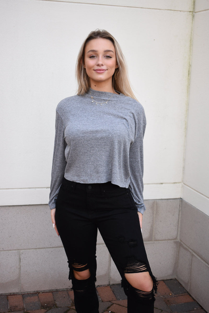chaser-grey-ribbed-top