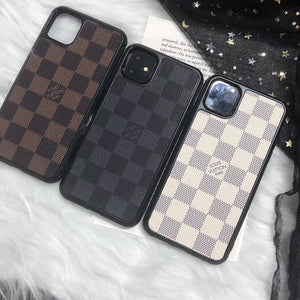LV Checker iPhone 11 Cases