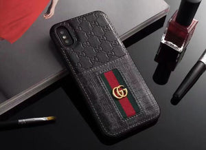 GG Black Leather iPhone 11 Case