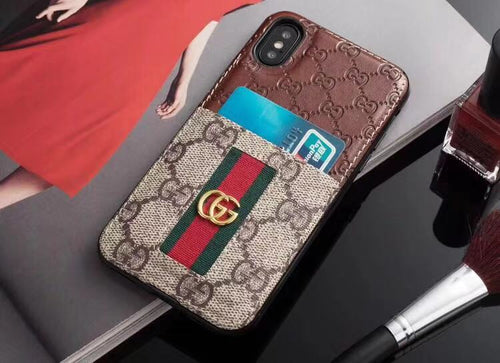 GG Brown Leather iPhone 11 Case