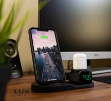Load image into Gallery viewer, LuxStation™ V2 - 3-in-1 Charging Station