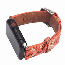 Load image into Gallery viewer, Goyard Style Leather Apple Watch Bands