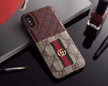 Load image into Gallery viewer, GG Brown Leather iPhone 11 Case