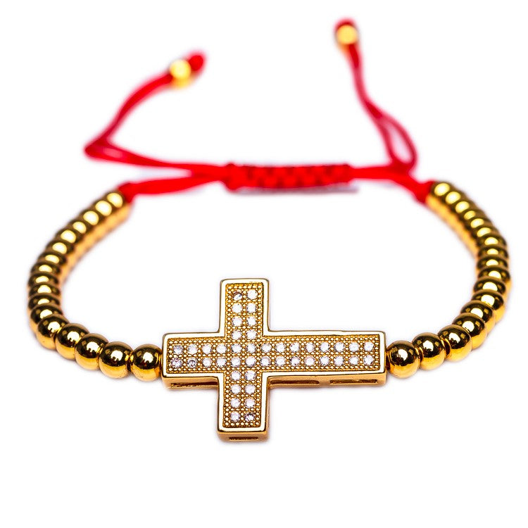 BRACELET B-047 - CROSS DEVOTION - BohoBlingCo