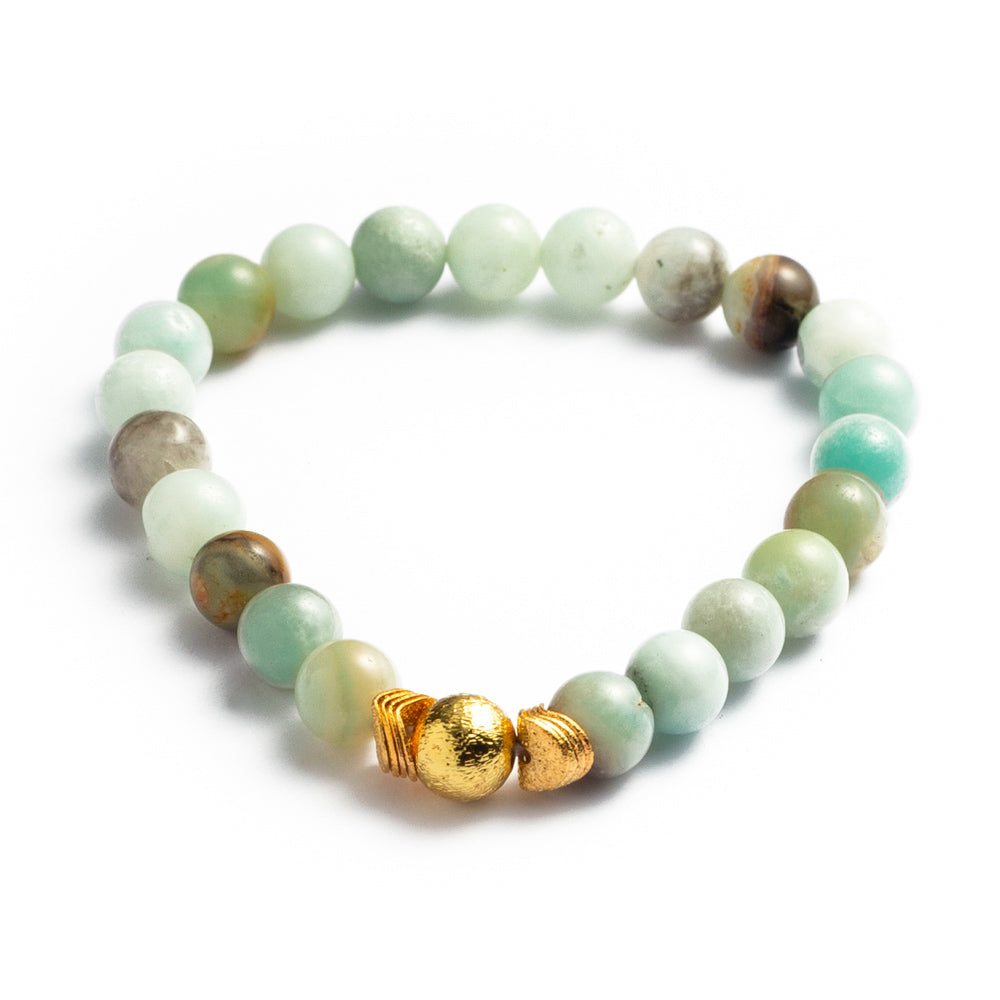 BRACELET B-322 - AMAZONITE POWER - BohoBlingCo