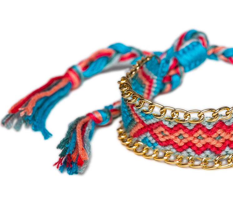 BRACELET B-543 - TRIBAL BRAIDED - BohoBlingCo