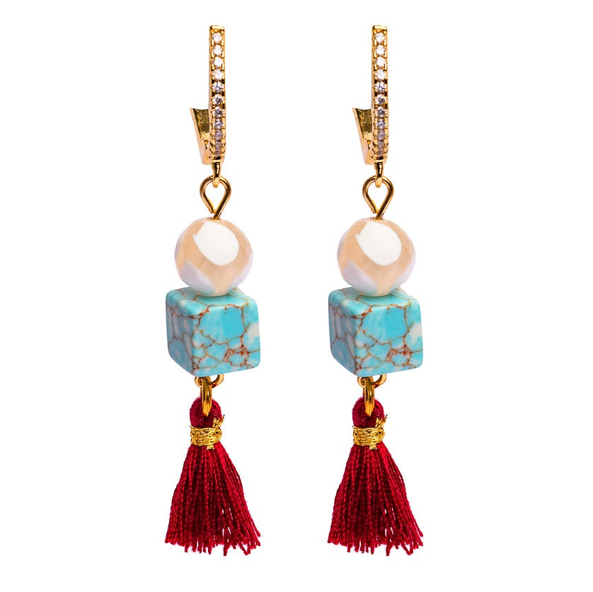 EARRINGS E-010 - MINI TASSELS - BohoBlingCo