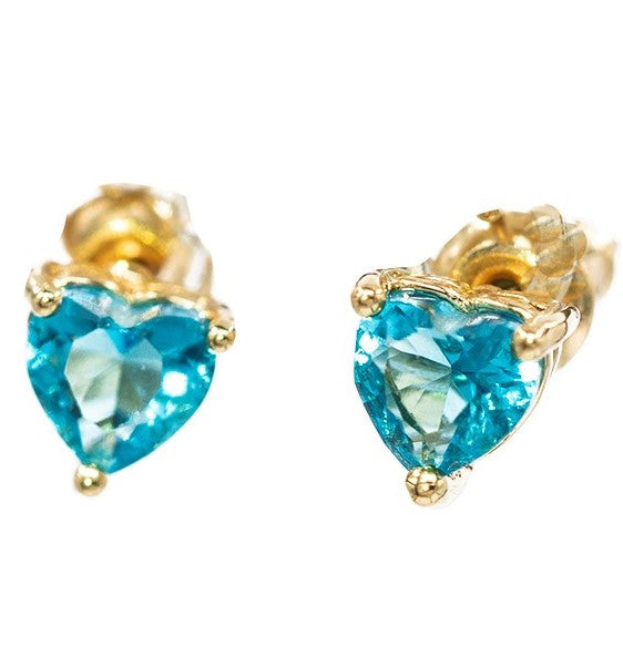 EARRINGS E-749 - MINI HEART STUDS - BohoBlingCo