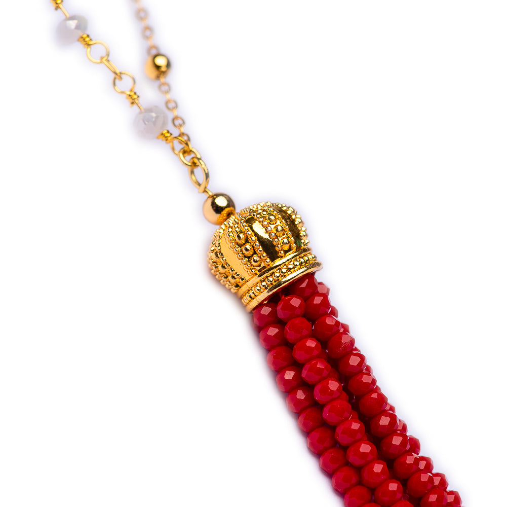 NECKLACE N-103 - aLONG TASSEL - BohoBlingCo