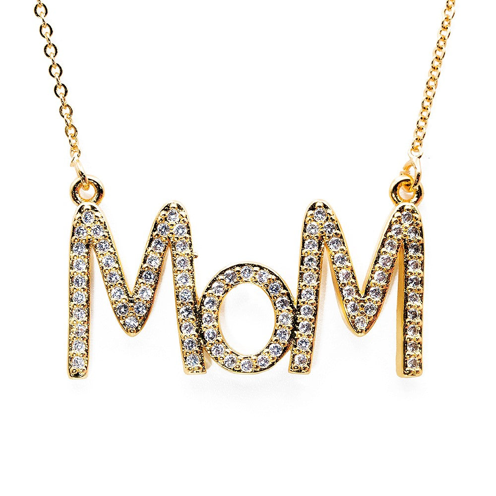 NECKLACE N-113 - MOM RAINBOW BLING - BohoBlingCo