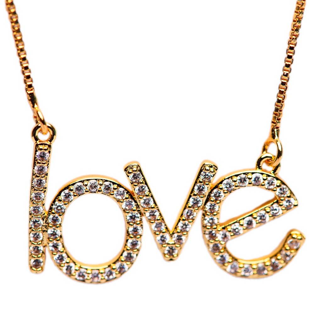 NECKLACE N-250 -LOVE BLING - BohoBlingCo