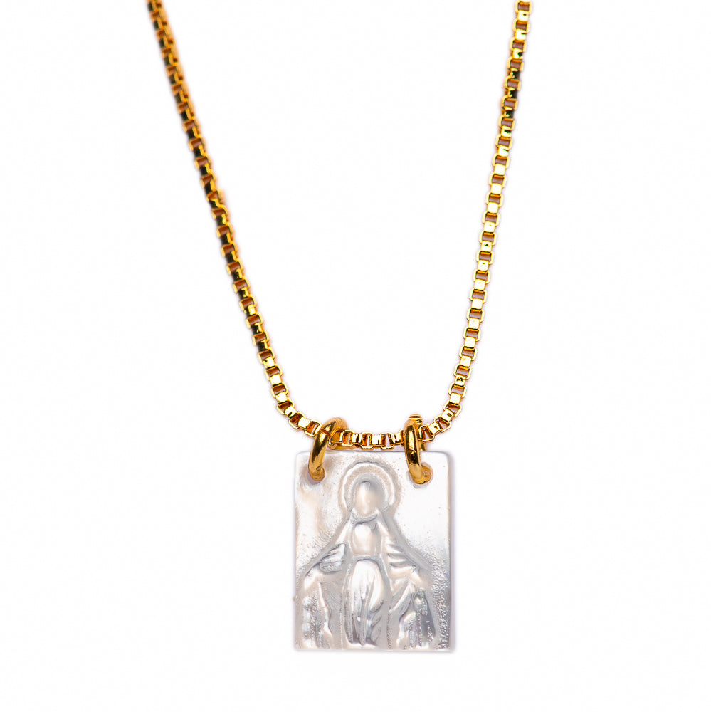 NECKLACE N-302 - VIRGIN AMULET - BohoBlingCo