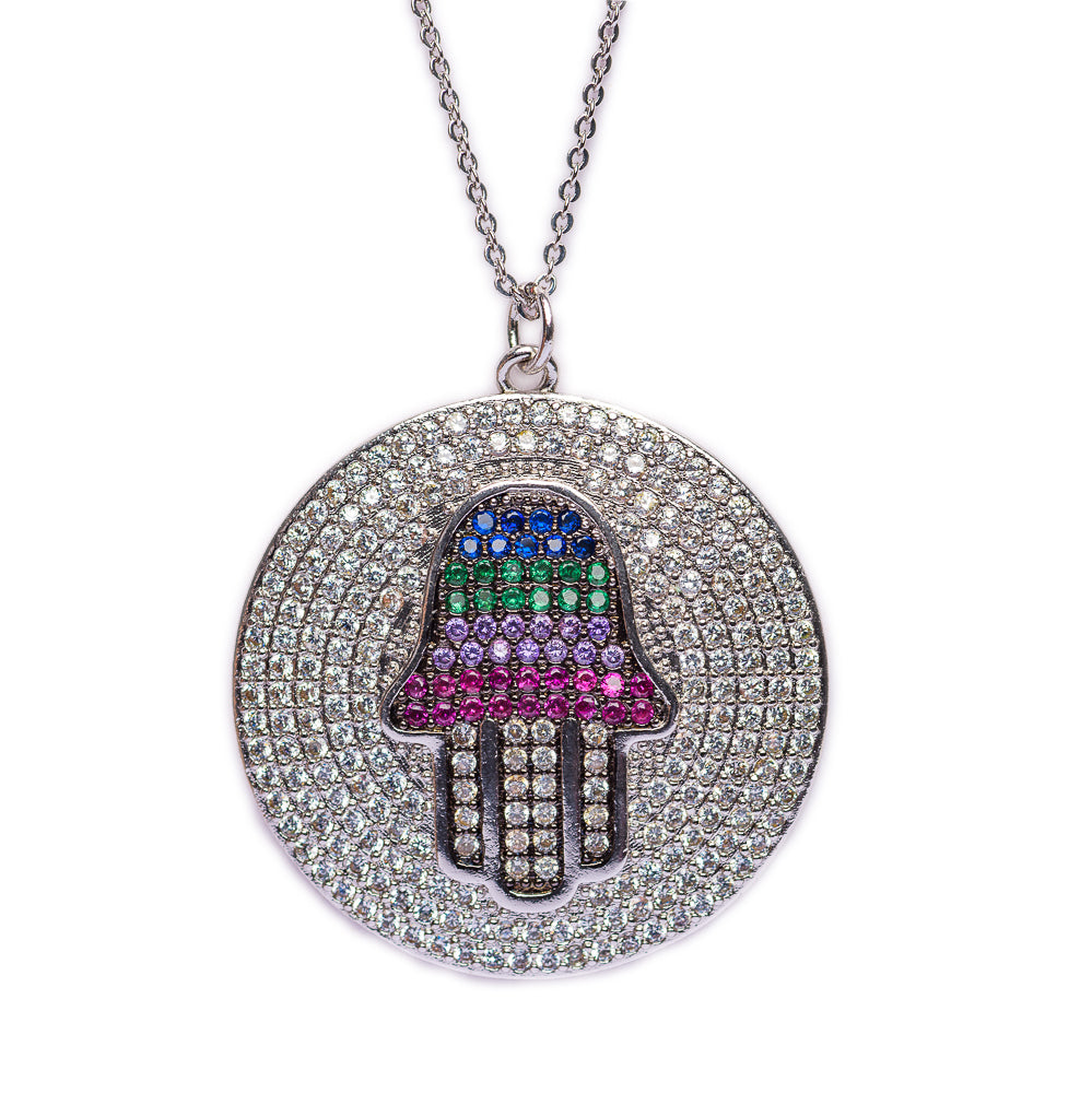 NECKLACE N-355 - HAMSA BLING - BohoBlingCo