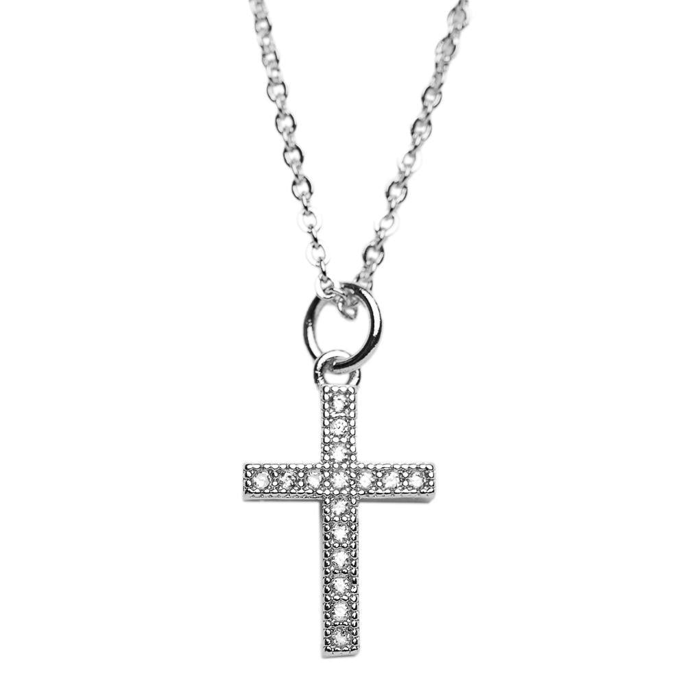 NECKLACE N-356 - CROSS - BohoBlingCo