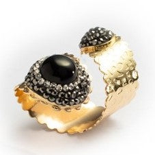RING R-118 - BLACK FINGER WRAP - BohoBlingCo