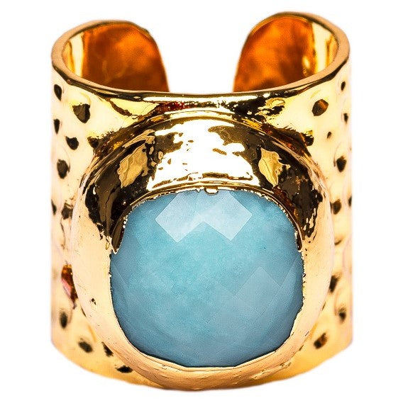 RING R-122 - AMAZONITE - BohoBlingCo