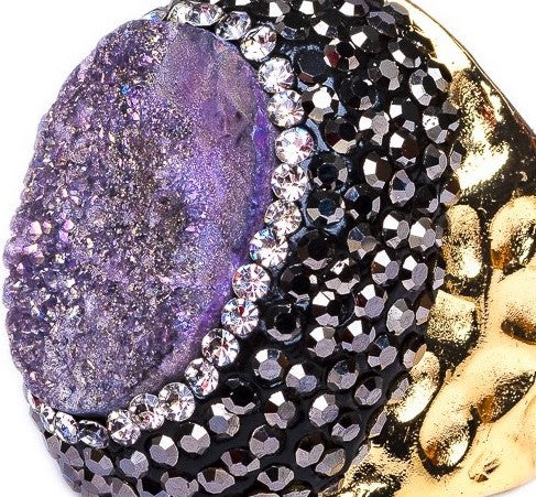 RING R-127 - DRUZY PURPLE - BohoBlingCo