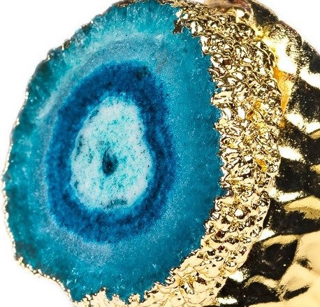 RING R-129 -AGATE TURQUOISE - BohoBlingCo