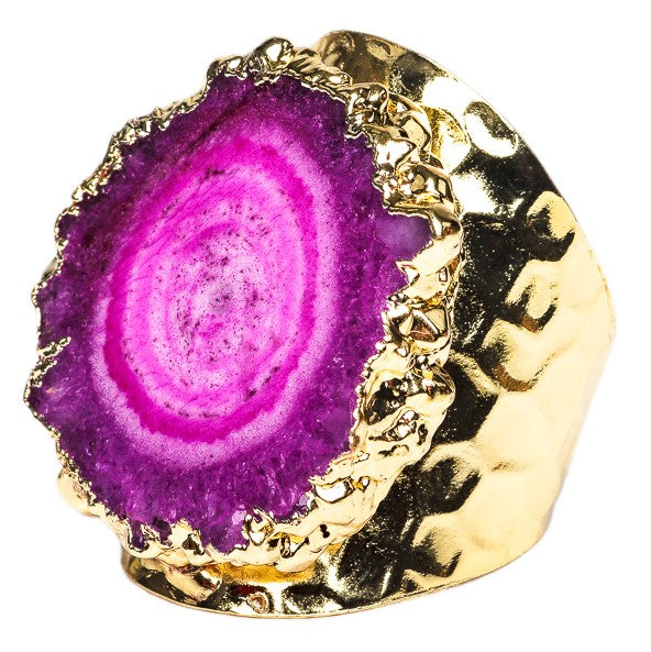 RING R-130 -AGATE PINK - BohoBlingCo