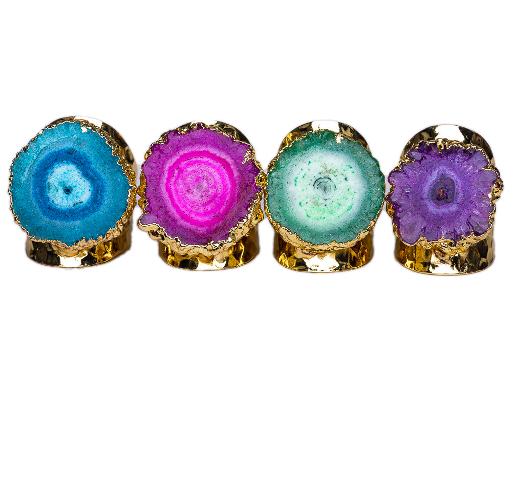 RING R-131- AGATE PURPLE - BohoBlingCo