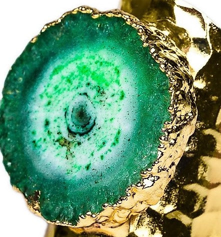 RING R-132 - AGATE GREEN - BohoBlingCo