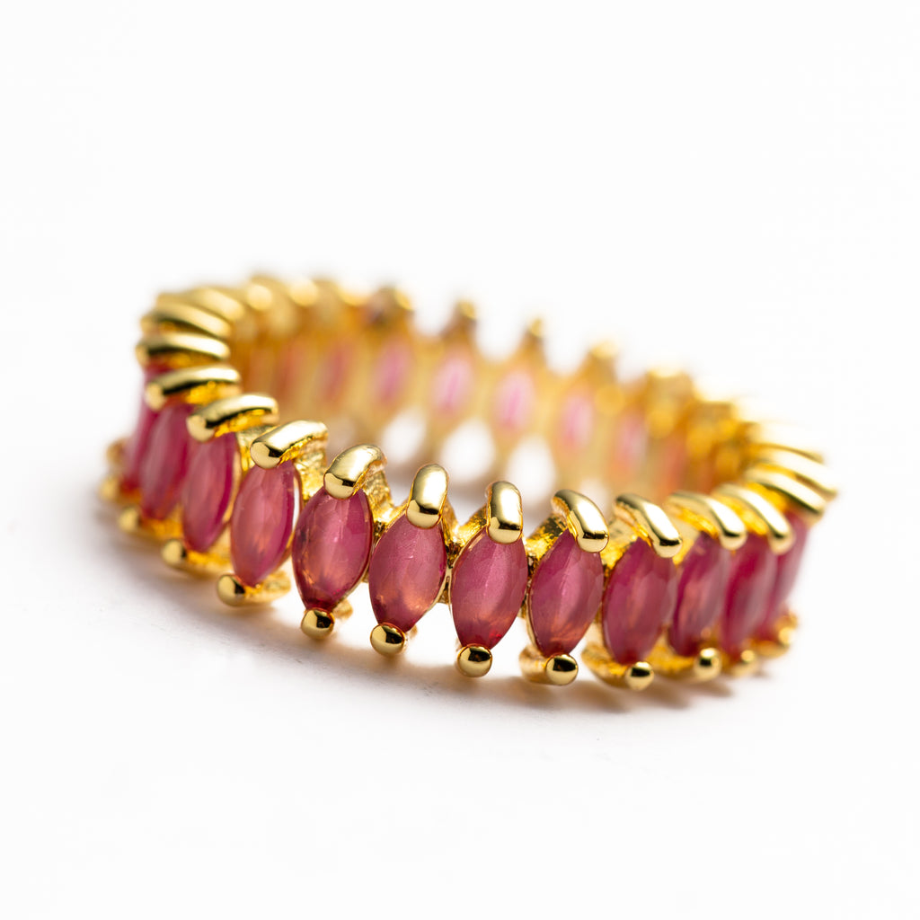 RING - ELLA PINK - STACKING - BohoBlingCo