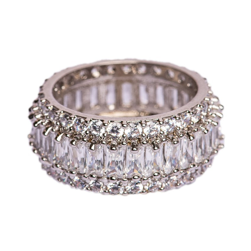 RING - MONACO WHITE GOLD - BohoBlingCo