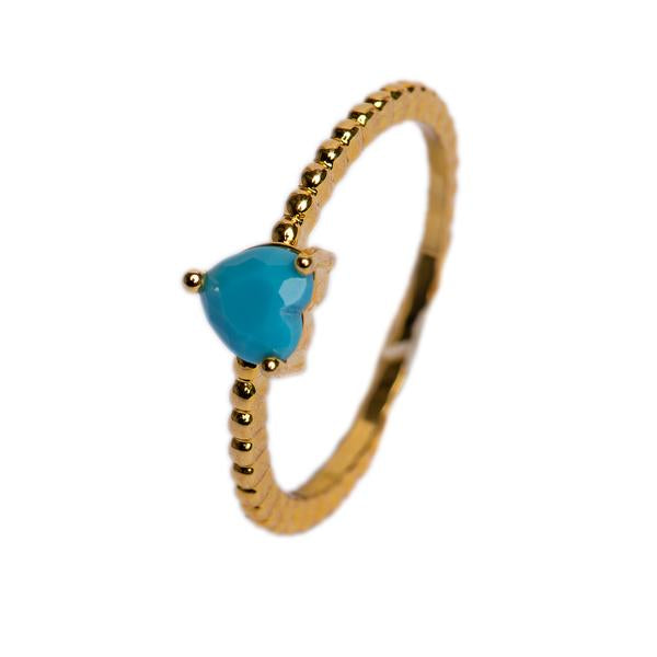 RING - CUORE TURQUOISE - BohoBlingCo