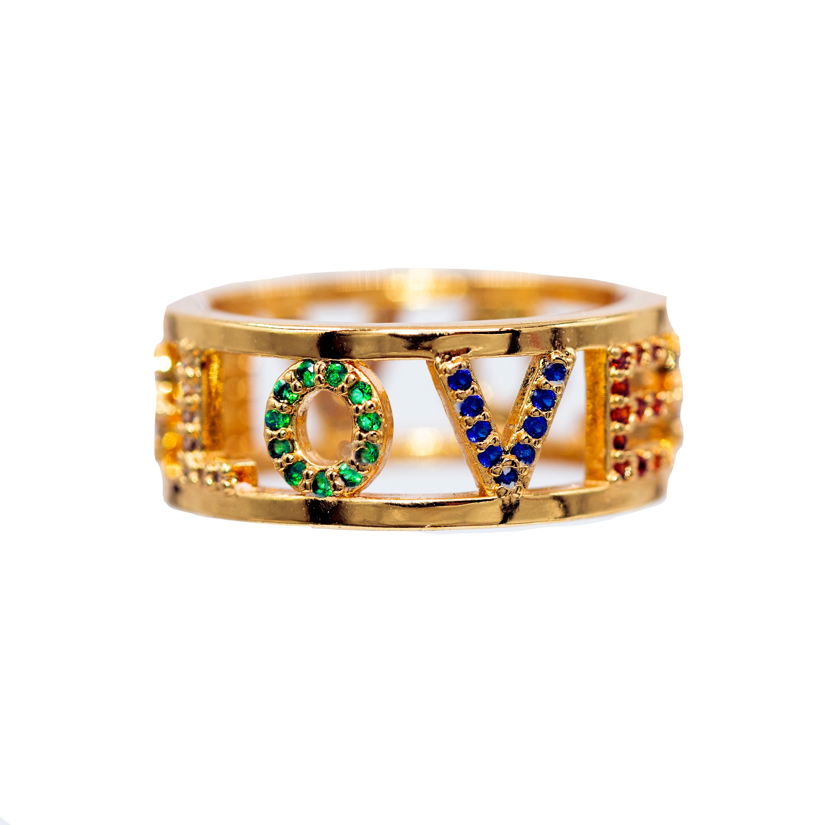 RING - RAINBOW LOVE - STACKING - BohoBlingCo