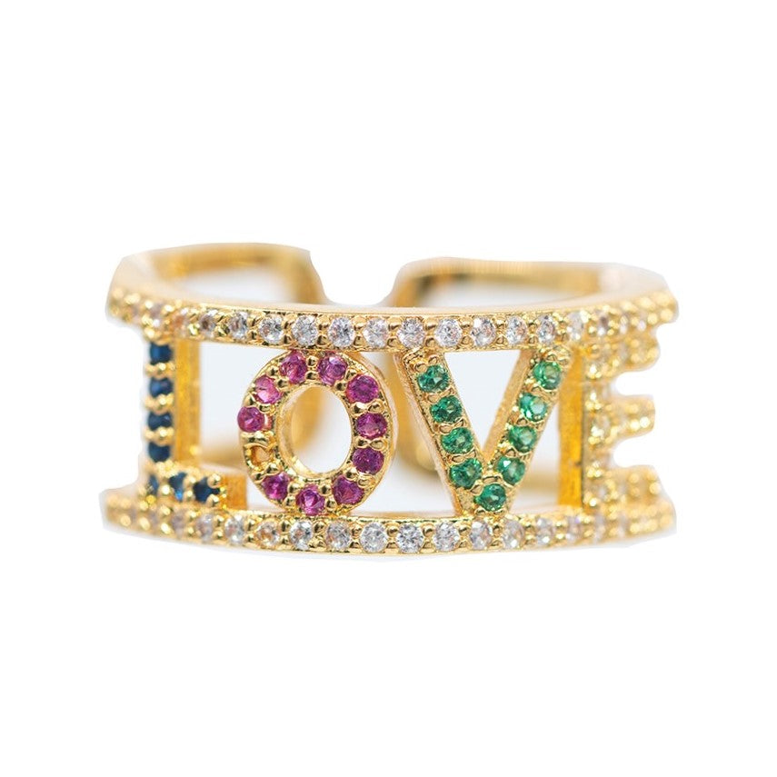 RING R-726 - RAINBOW BLING - BohoBlingCo