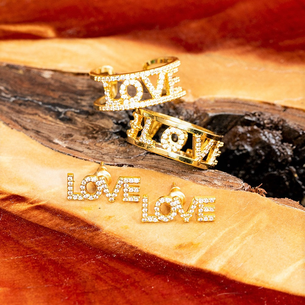 RING - LOVE GOLD - STACKING - BohoBlingCo