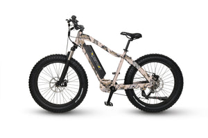 QuietKat Ambush Fat Tire Hunting Electric Mountain Bike 750 Watt Mid Drive Electric Motor Camo