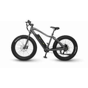 QuietKat Rover Fat Tire Hunting Electric Mountain Bike 750 Watt Hub Drive Electric Motor Charcoal