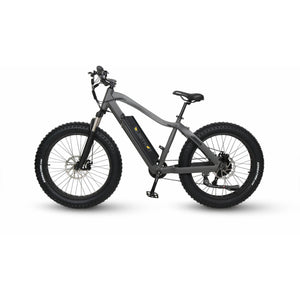 QuietKat Ranger Fat Tire Hunting Electric Mountain Bike 750 Watt Rear Hub Drive Motor Charcoal